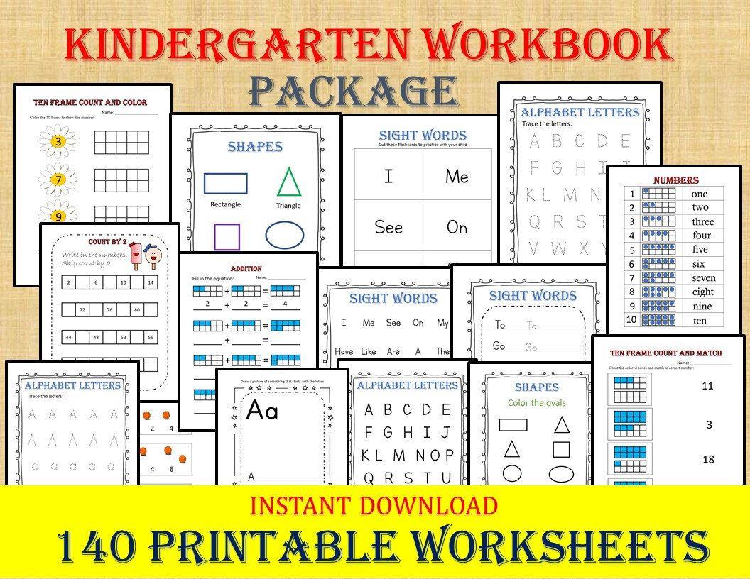 Kindergarten Workbook 140 Worksheets Instant Download Etsy In 2020 Kindergarten Workbooks Kindergarten Readiness Kindergarten Worksheets [ 816 x 1056 Pixel ]