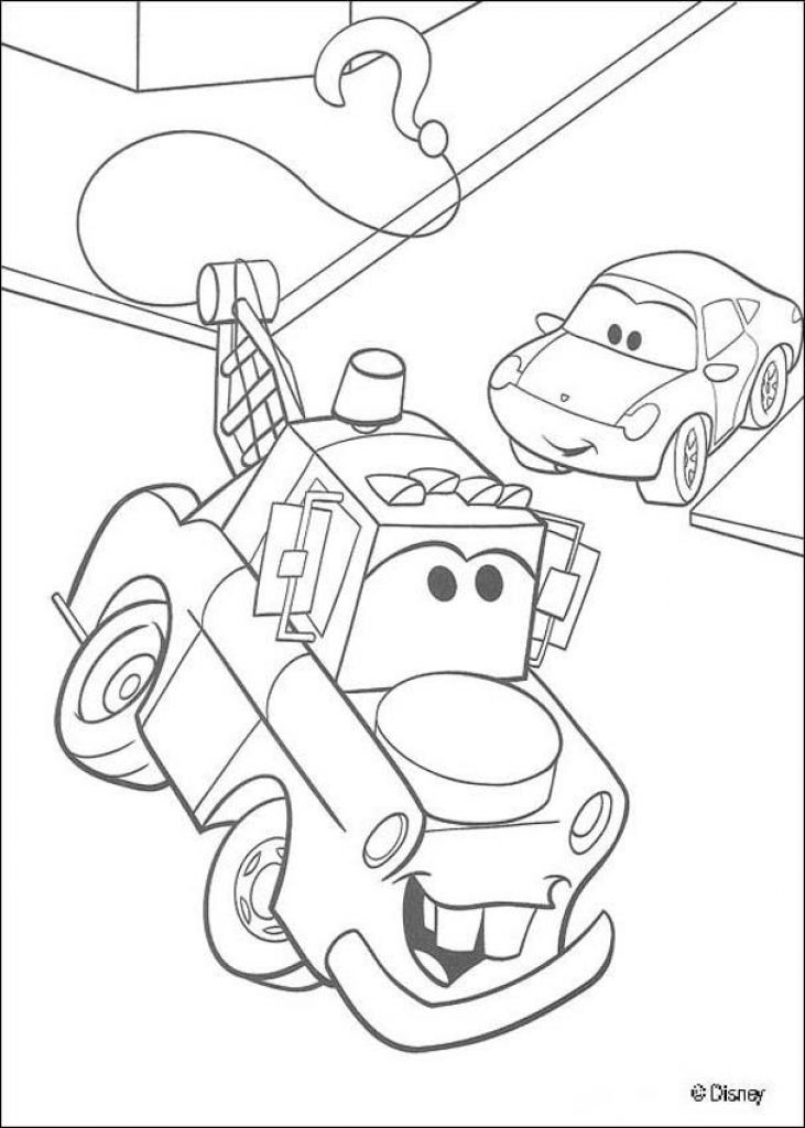The Tow Truck Mater Coloring Sheet Free Online | Disney Coloring ...
