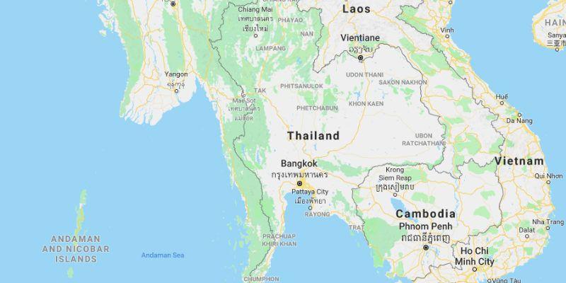 Cartina Italia Thailandia.Mappa Della Thailandia Cartine Dettagliate Thailandia