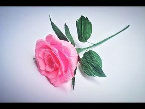 Como Hacer Rosa De Papel Crepe Rosas Con Una Tira De Papel Muy - Cmo-hacer-rosas-de-papel