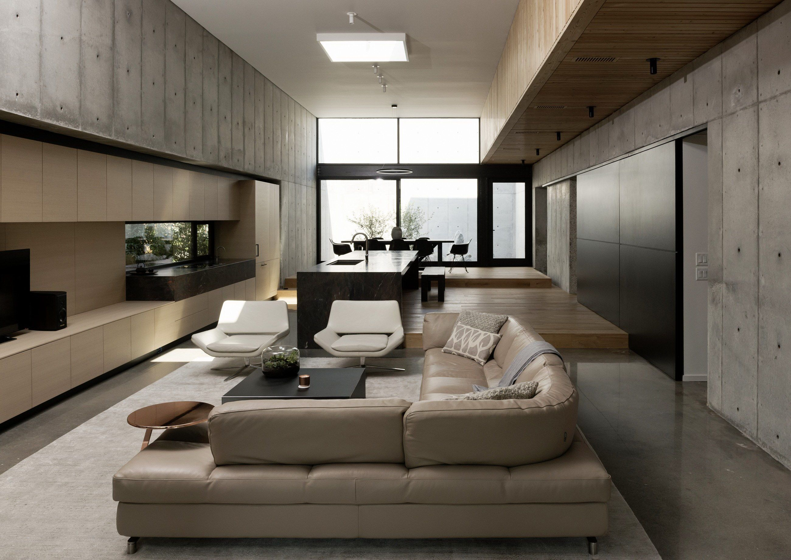 Concrete Box House By Robertson Design Wowow Home Magazine Box Houses Concrete House Modern Living Room Interior