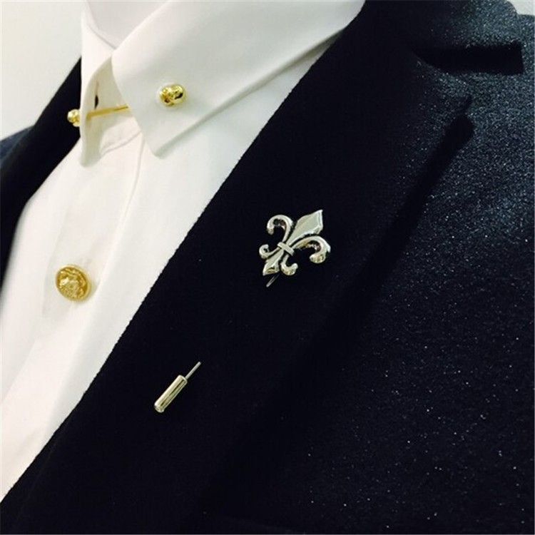 Superb Luxury Lapel Pins Fleur De Lis Lapel Pin
