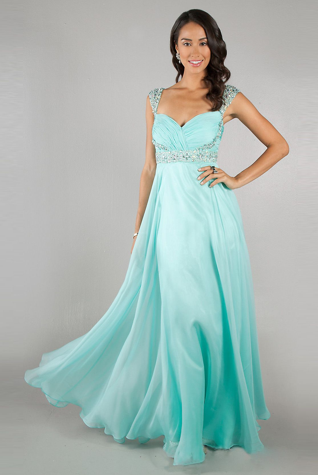 Aqua Long Sparkly Prom Dress <3 I\'m In Love Can\'t Wait Till Prom ...
