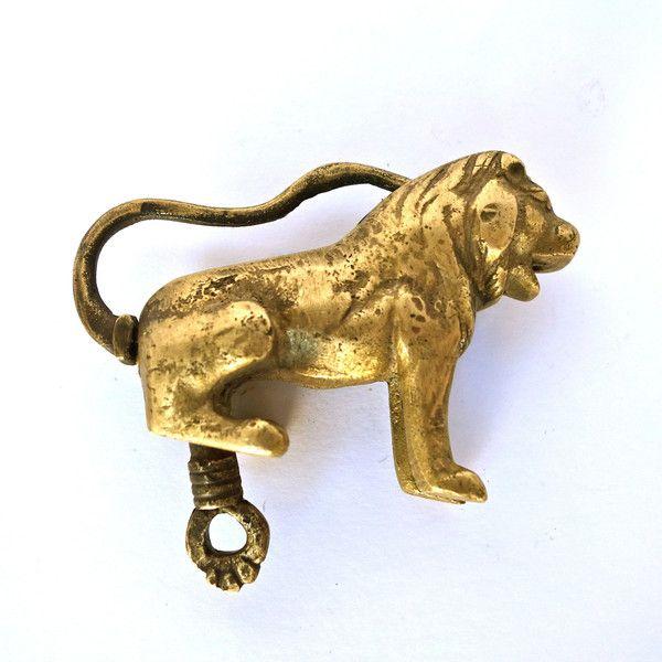 Brass Lion Lock