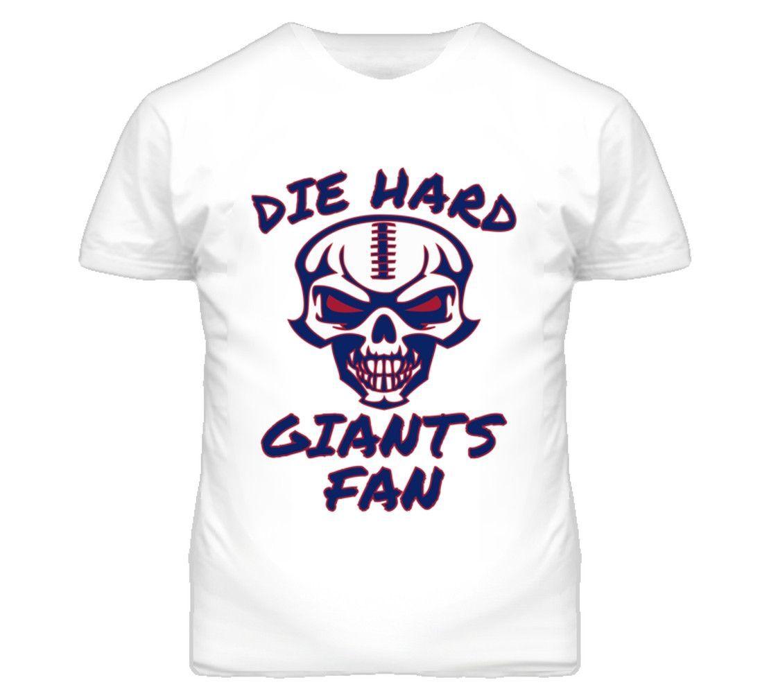 Youth Die Hard Giants Fan Football T-Shirt