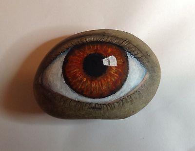 Original-painting-outsider-art-primitive-stone-folk-Kaveman-Hamsa-3rd-Eye-Rock                                                                                                                                                     More: #homedécoraccessories