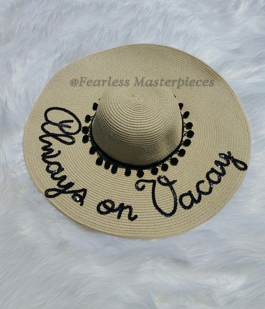 Custom Sequins Sun Floppy Beach Hat