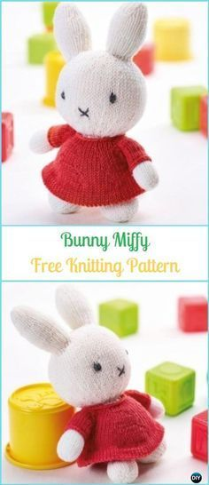 Amigurumi Knit Bunny Toy Softies Free Patterns&Paid #knittedtoys