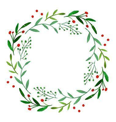 Watercolor Wreath Vector Image On Watercolor Wreath Watercolor