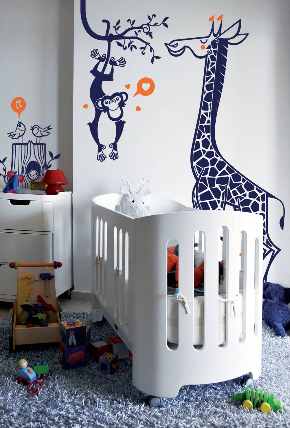 Deco Chambre Savane Stickers Enfants Kit Savane Par E Glue Stickers Muraux