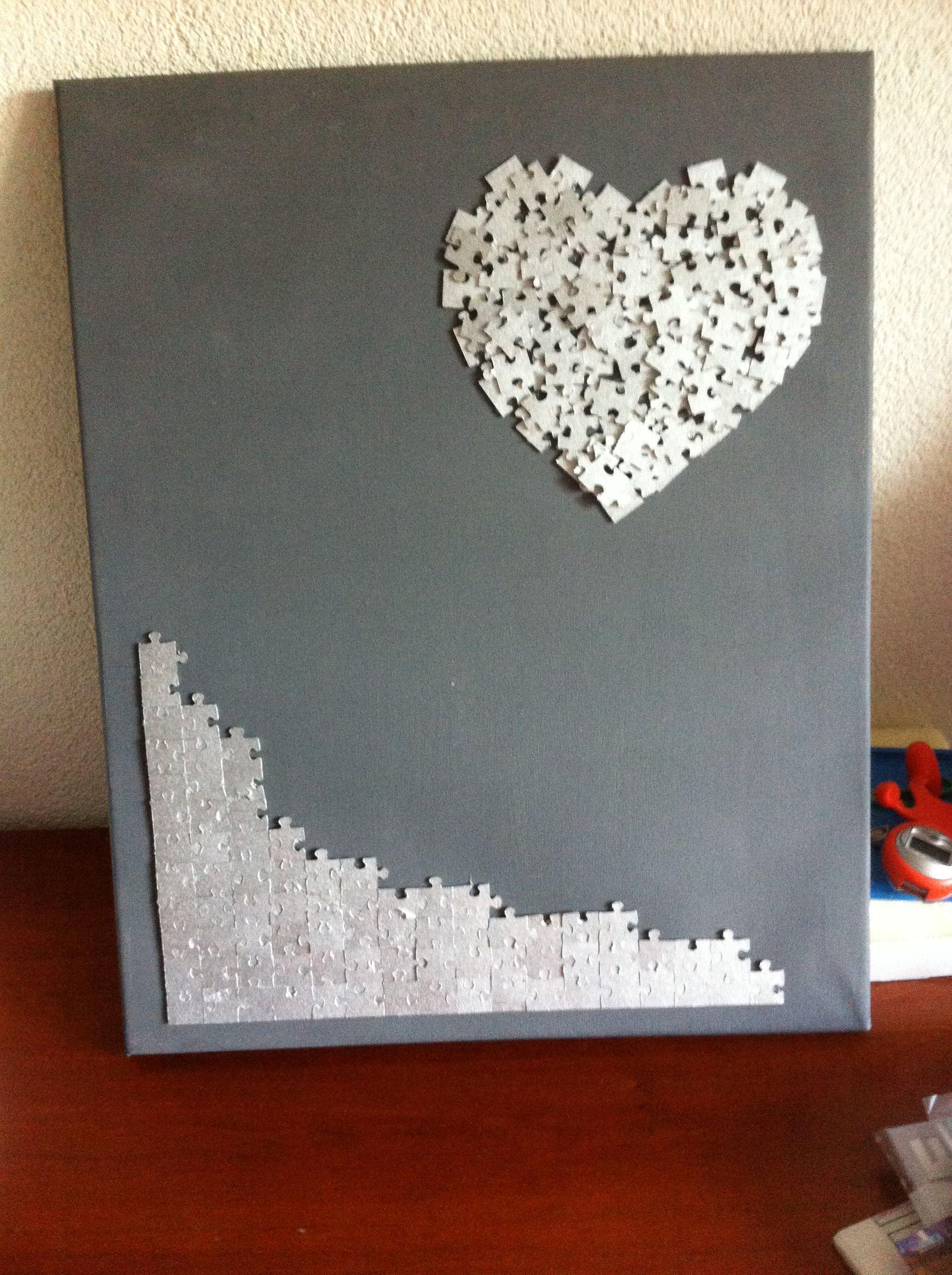 hart van puzzelstukjes