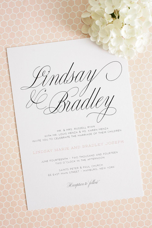 Large Script Wedding Invitations | Pinterest | Peach, Wedding and ...