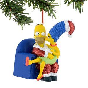the simpsons christmas tree ornament merry kissmas