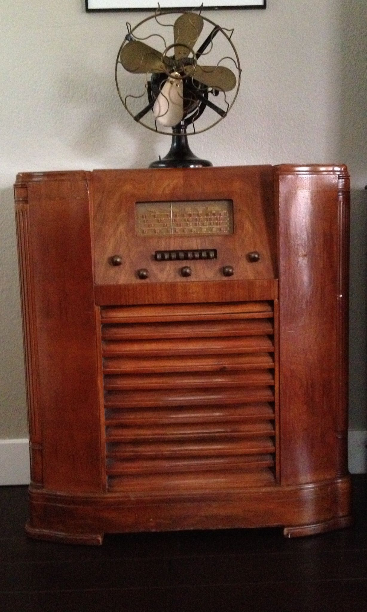 Antique Radio And Westinghouse Fan