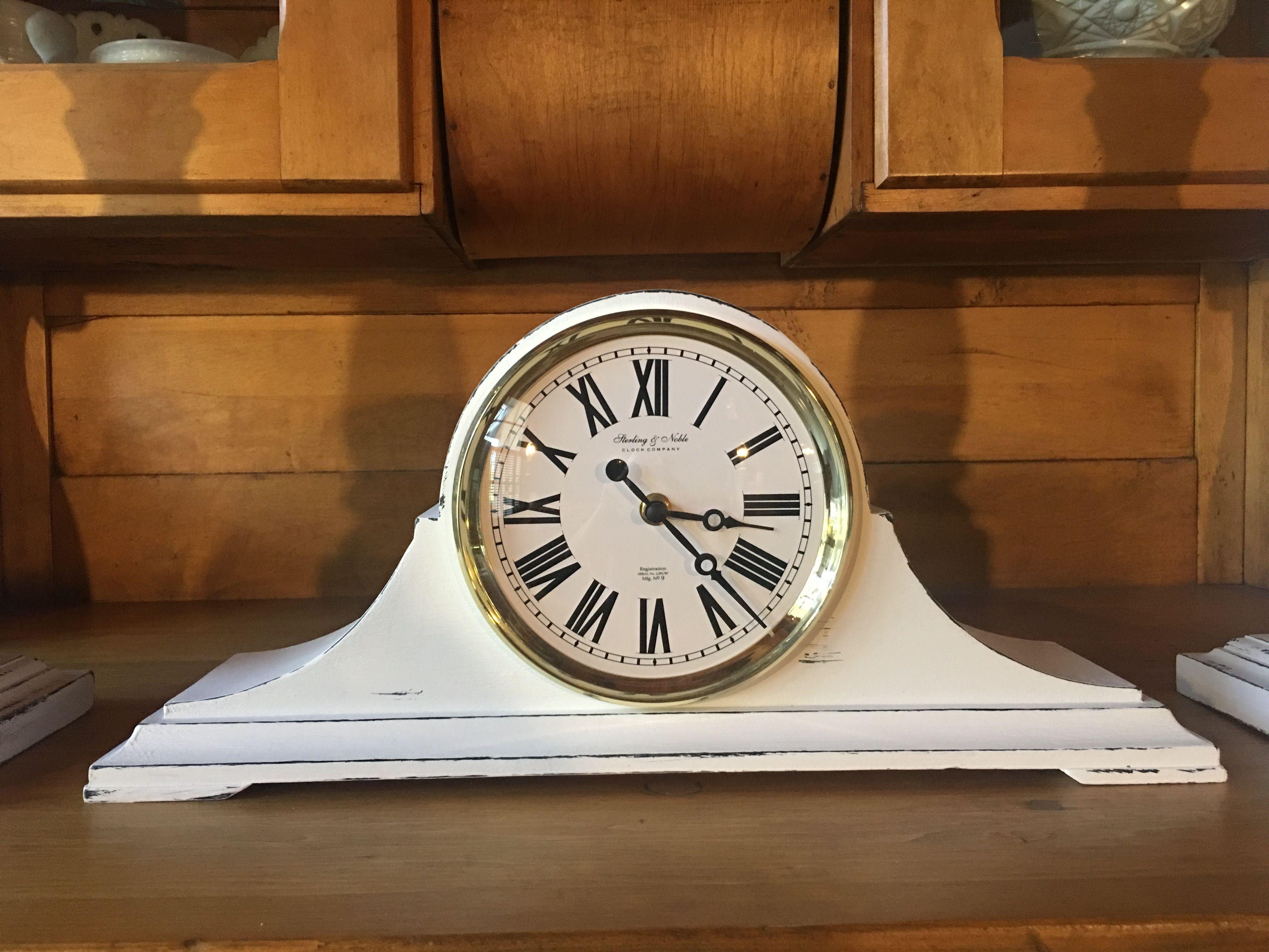 Farmhouse mantel clock white mantel clocks farmhouse