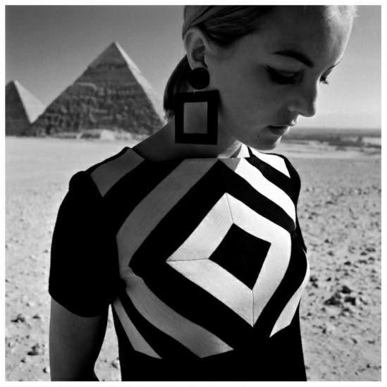 """Op Art-Fashion"", Gizeh. - 1966 Photo F.C. Gundlach"