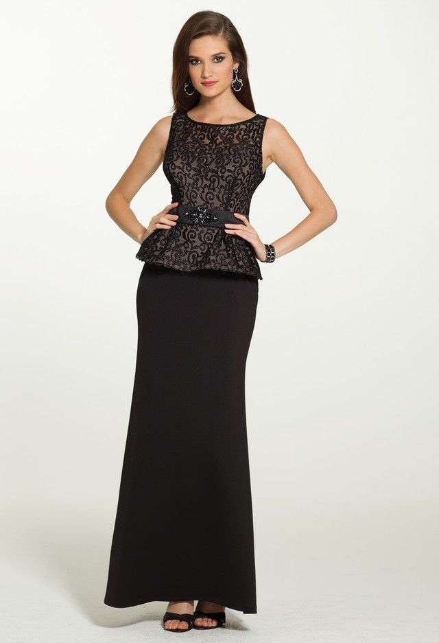 Lace Peplum Dress with Beaded Band from Camille La Vie and Group USA ...