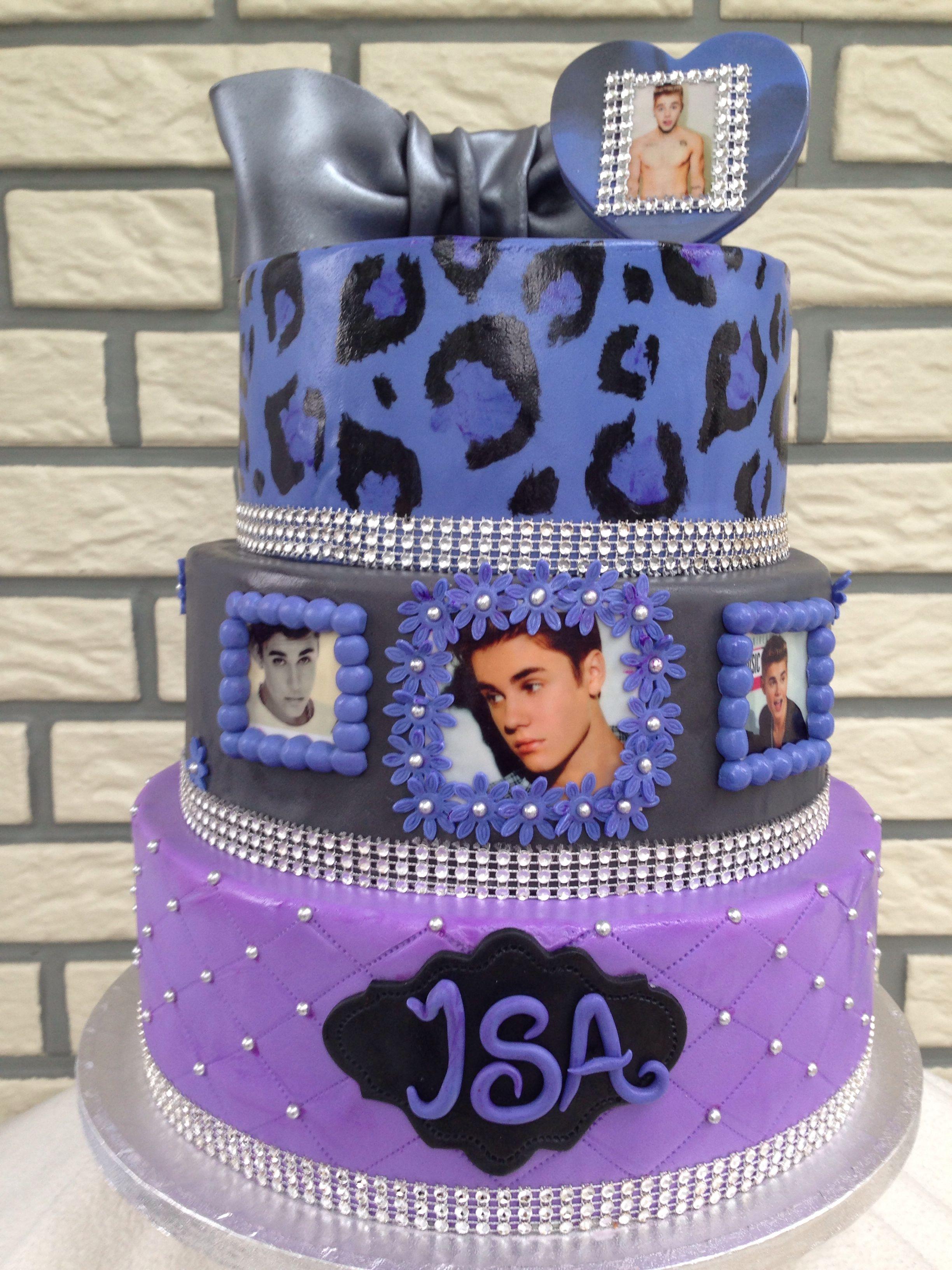 Justin Bieber Cake With Images Justin Bieber Cake Birthday