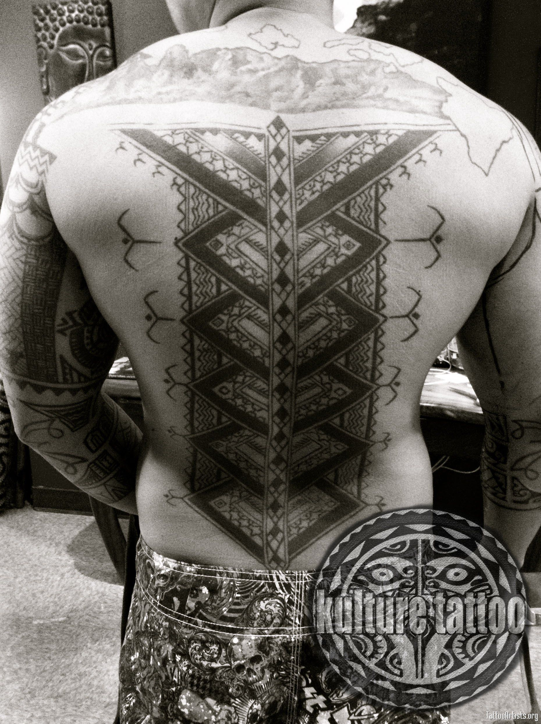 Filipino kalinga back tattoo more samoan tribal tattoos