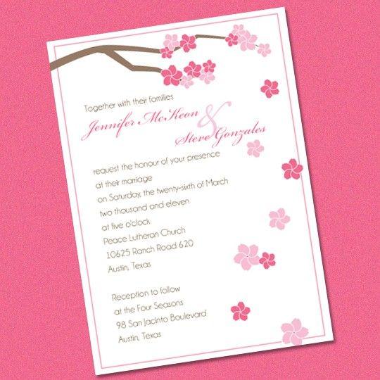 Modern Cherry Blossoms 'Sakura' Wedding by plumeriaprints on Etsy,