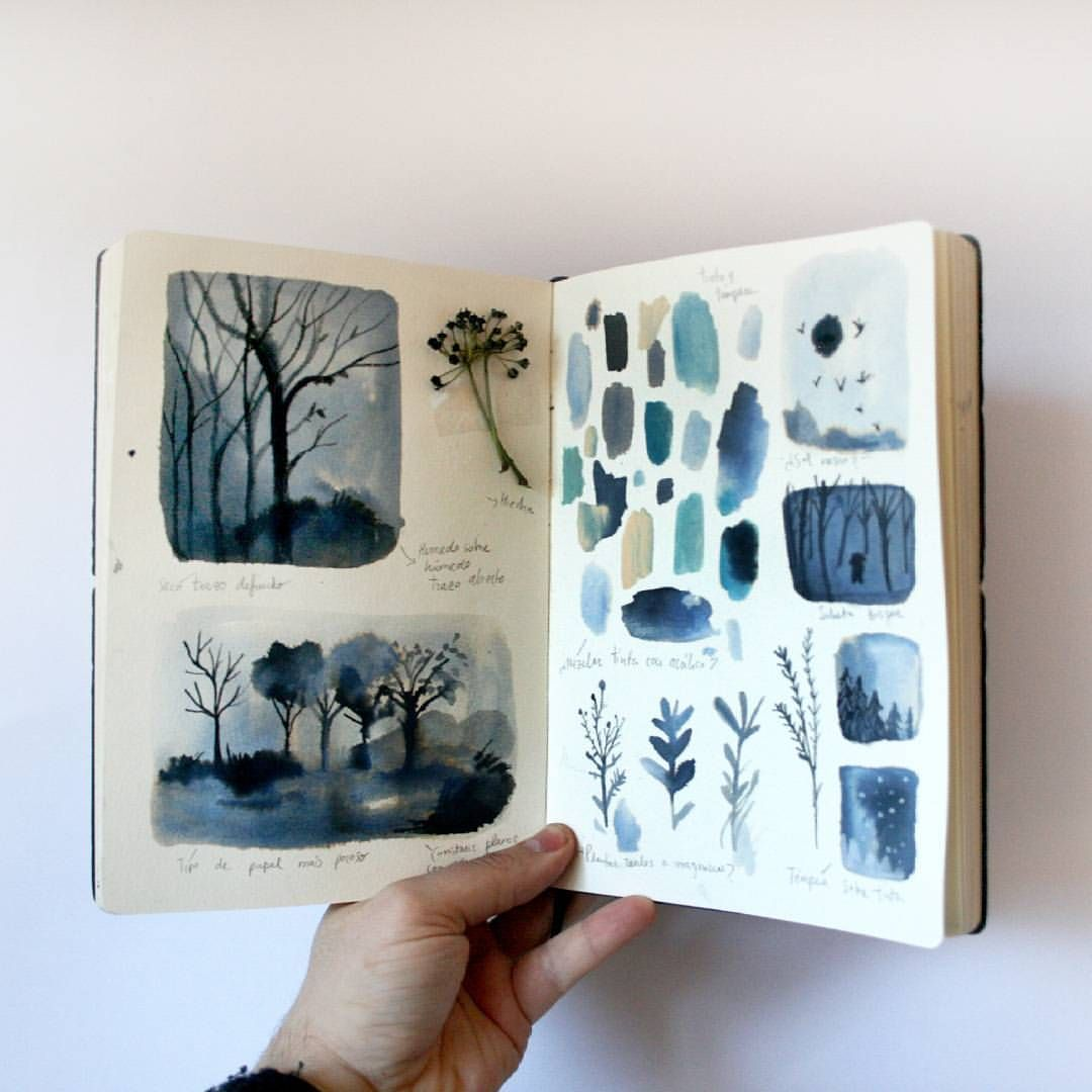 6 024 likes 131 comments adolfo serra adolfoserra on for Journal painting ideas