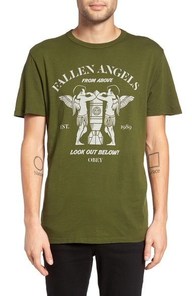 d60d72363d Obey Fallen Angels Graphic T-Shirt available at #Nordstrom | Feb 8 ...