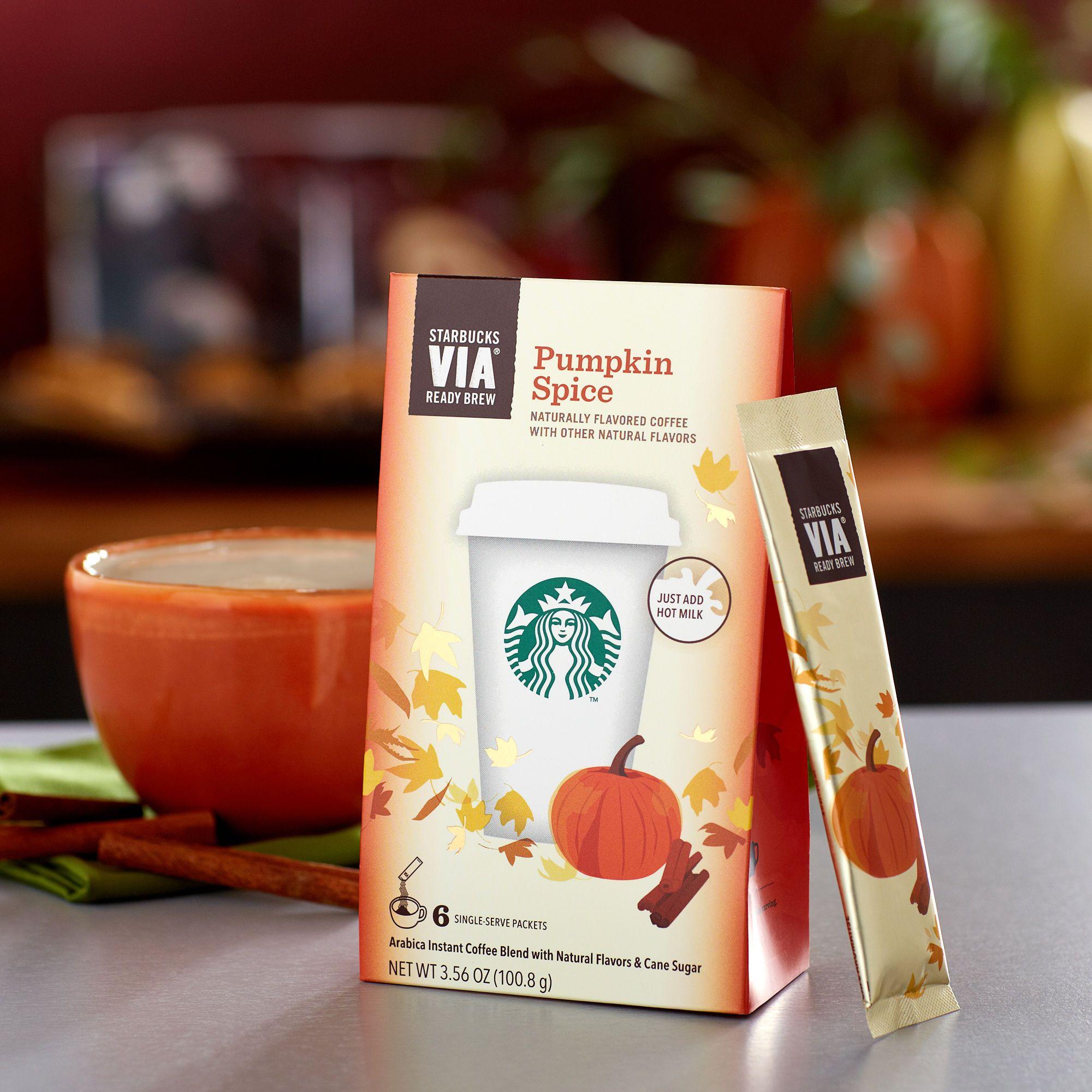 Starbucks Via Pumpkin Spice Make A Pumpkin Spice Latte