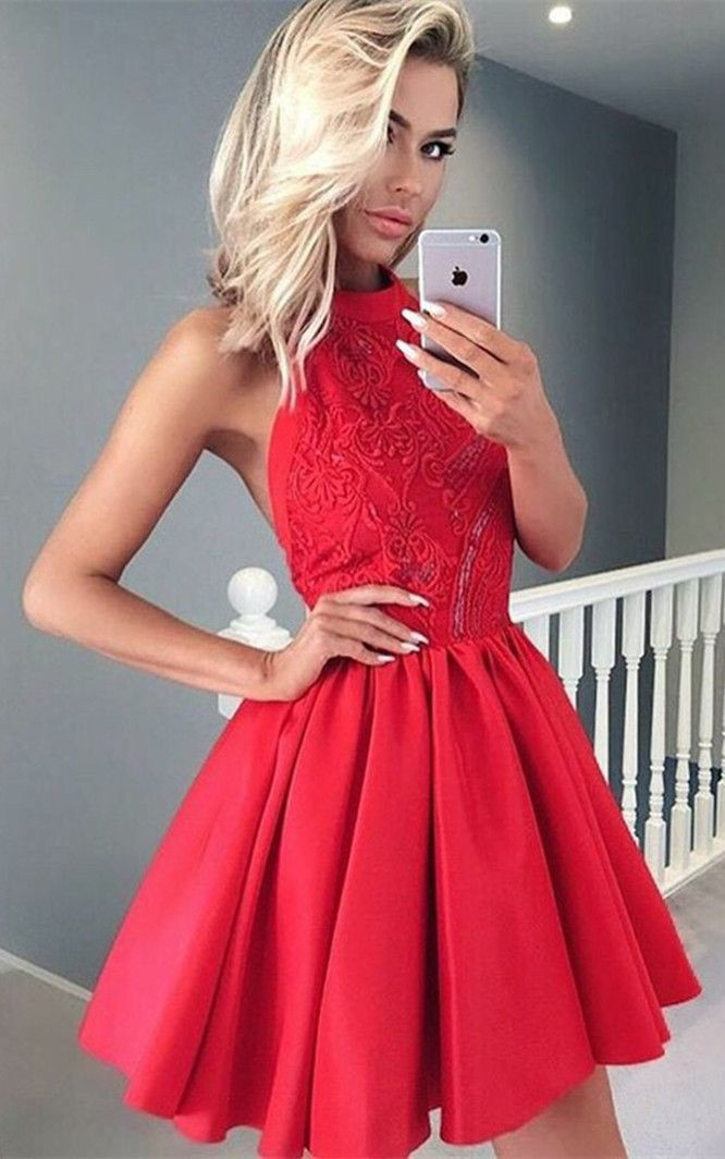 Short Formal Dresses for Teenagers in Red