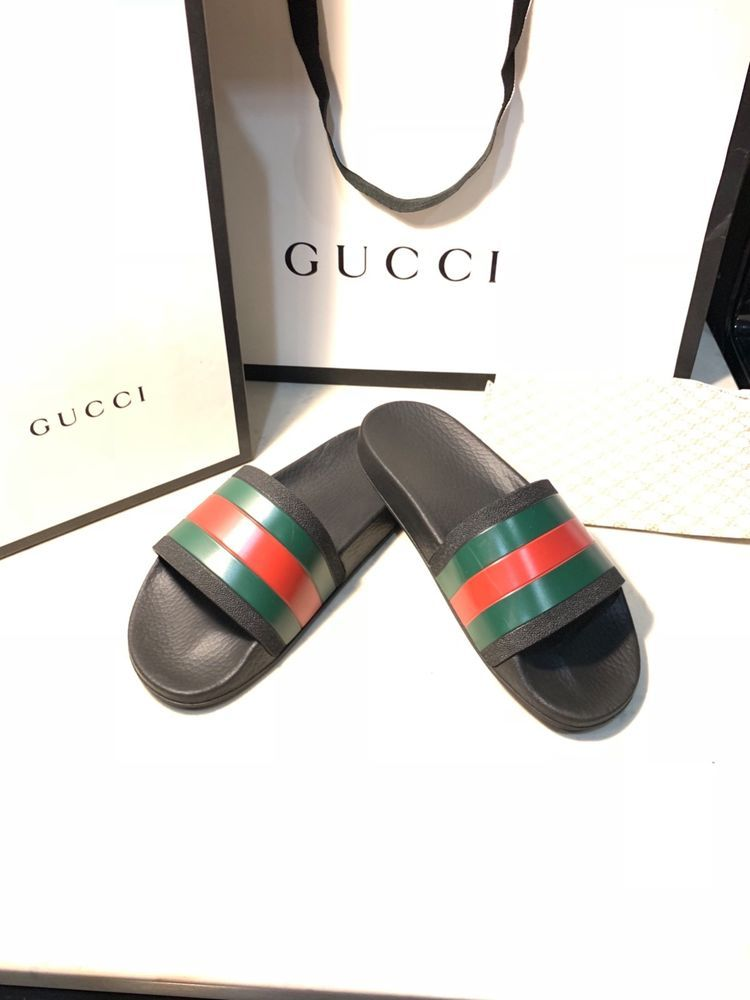 4249eaaa5b87 New Gucci Pursuit Rubber Slides slide flip flops sandals US 6.5  fashion   clothing  shoes  accessories  mensshoes  sandals (ebay link)