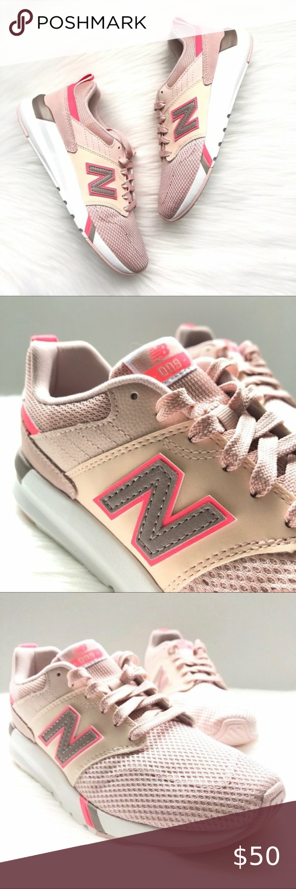 Athletic sneakers, New balance pink