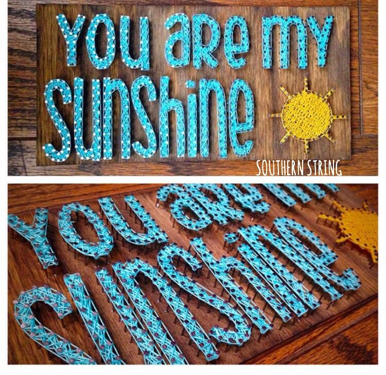 """You are my sunshine"""" string art"""