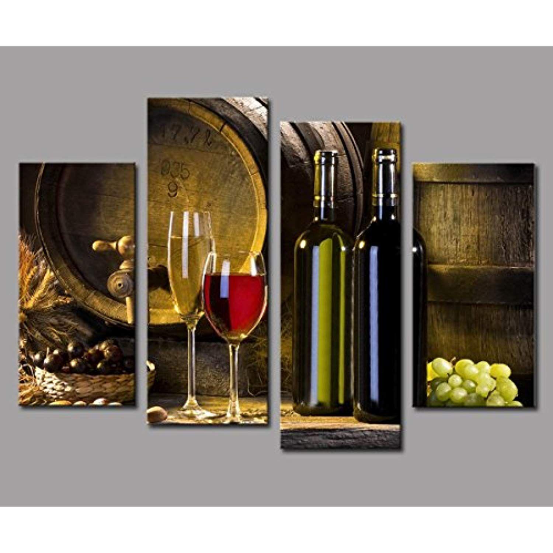 Posters Prints Red Wine Bottle Barrel Grape Canvas Hd Print Painting Wall Art Dining Room Decor Netpackmdz Com Ar