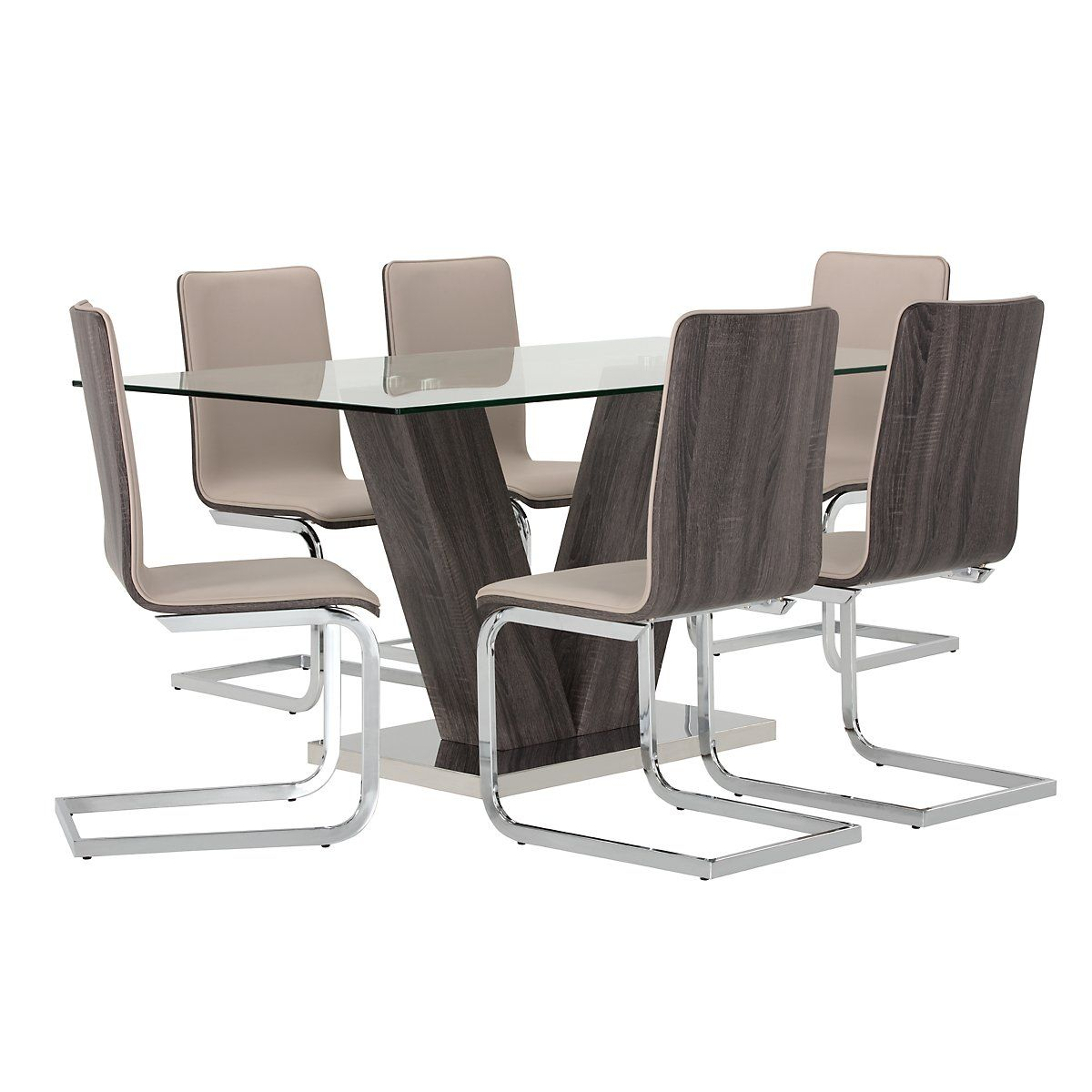 Kendall Dark Tone Table U0026 4 Upholstered Chairs