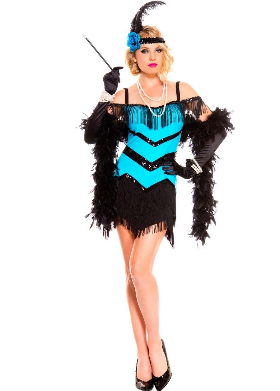 Music legs white sparkly roaring 20s flapper costume