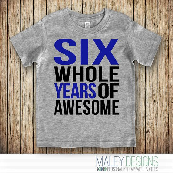 6th Birthday Shirt Boy 6 Year Old By MaleyDesigns