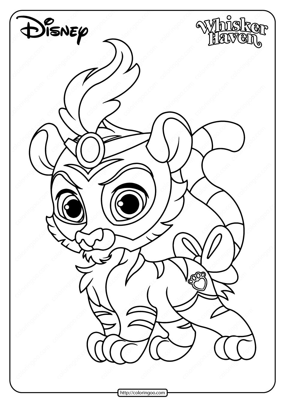 Printable Palace Pets Sultan Pdf Coloring Page In 2020 Princess Coloring Pages Animal Coloring Pages Disney Princess Colors