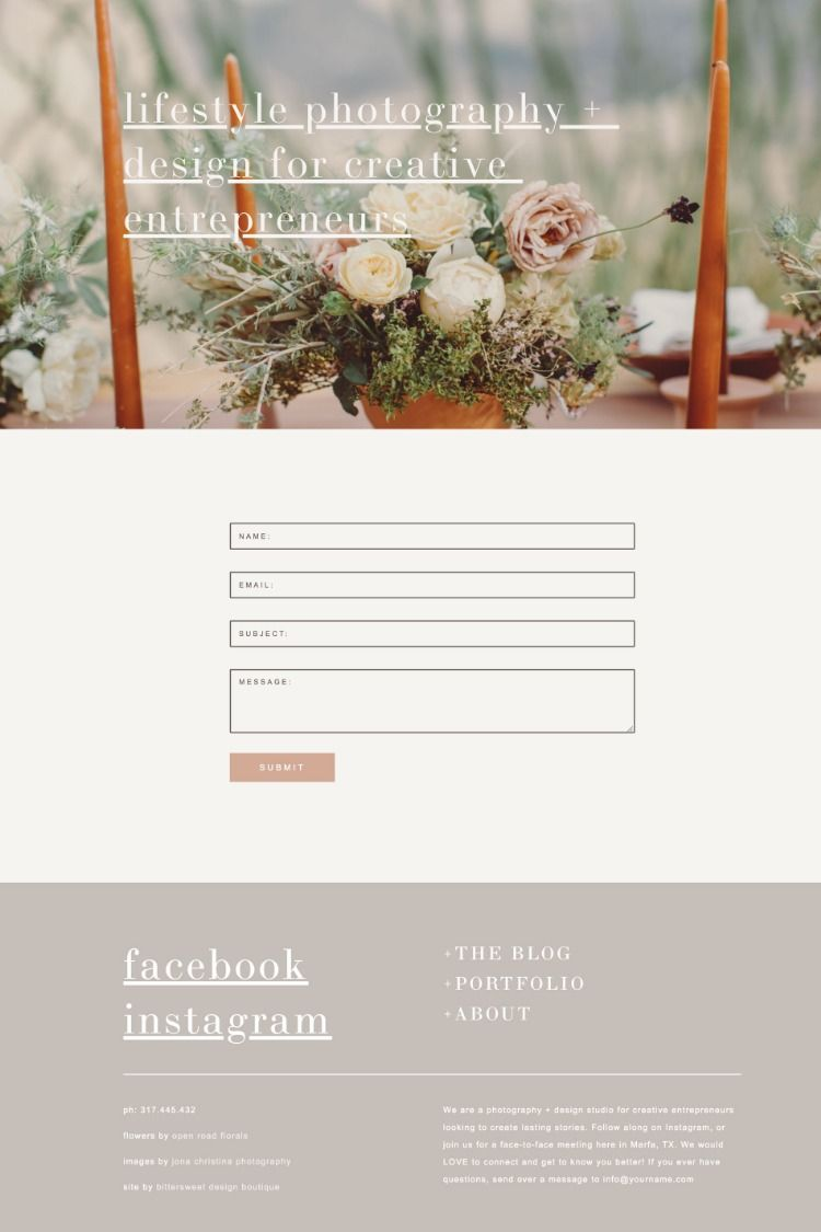 Our Squarespace templates give you complete control over