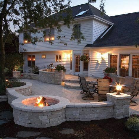 Genial Tumbled Block For Fire Pit And Patio Walls