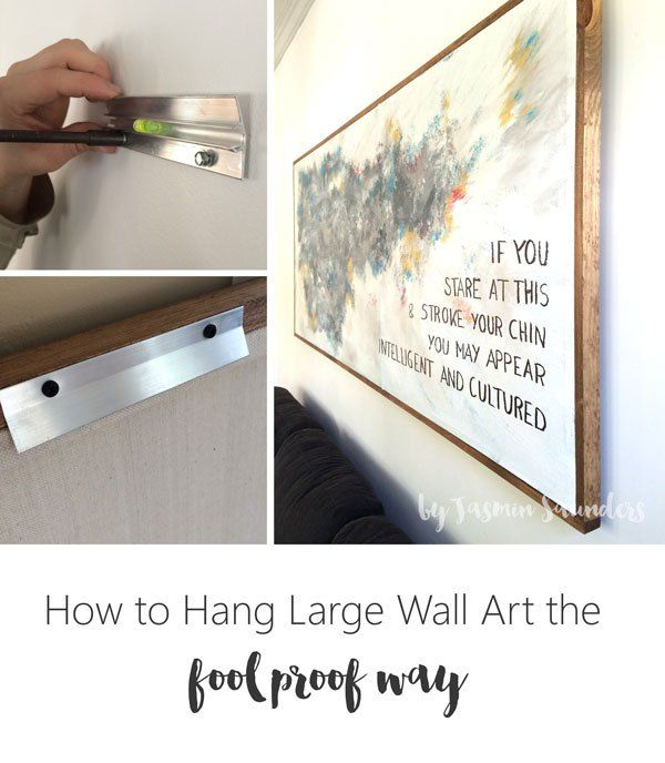 How To Hang Large Painting On Plaster Walls The Foolproof Way Large Painting Plaster Walls Large Wall Art