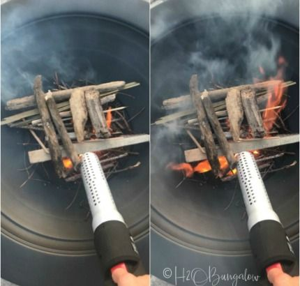 How to Light a Fire Pit in 4 Easy Steps   Fire pit ...