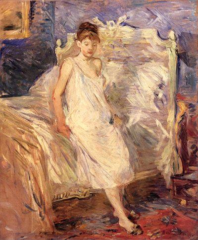 Berthe morisot le lever 1885 huile sur toile 65 x 54 for Devant le miroir manet