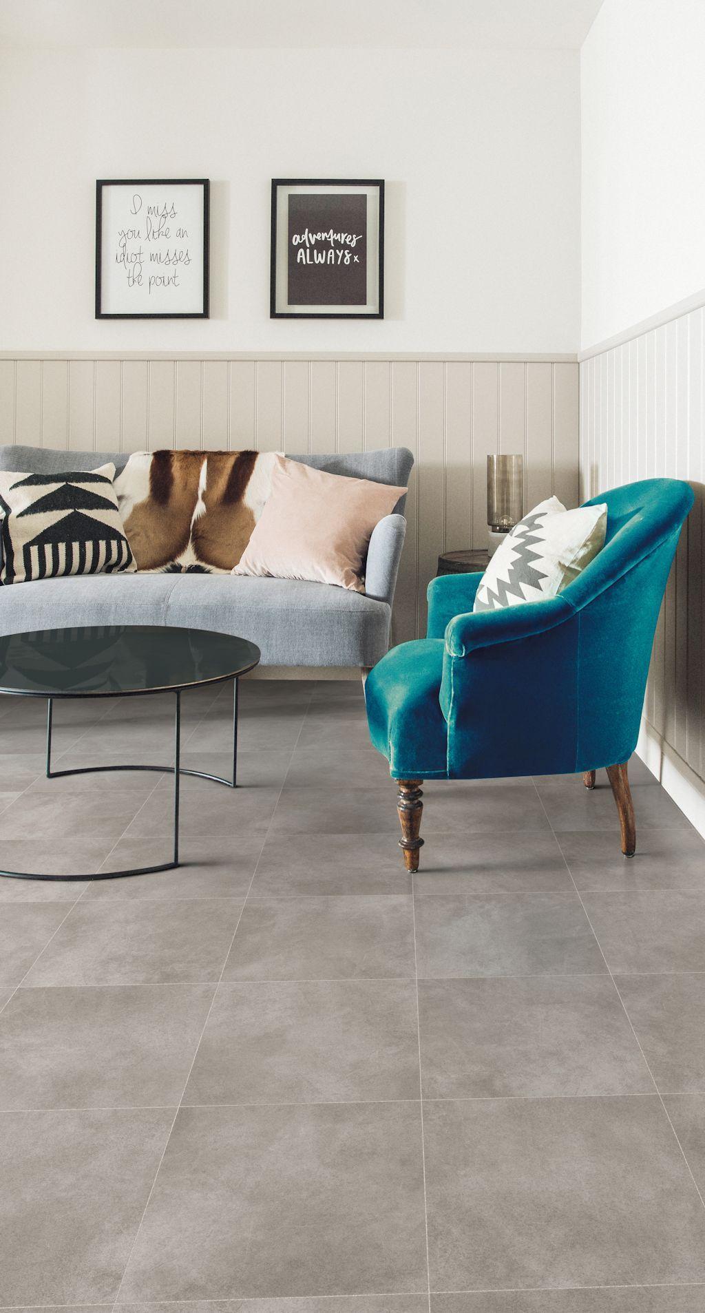 Living room featuring Secura PUR luxury vinyl sheet flooring in