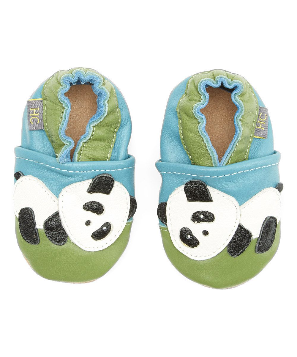 0d993122fab239 Leather Baby Infant Panda Soft Soled Crib Bootie Shoes by HCloset on Etsy