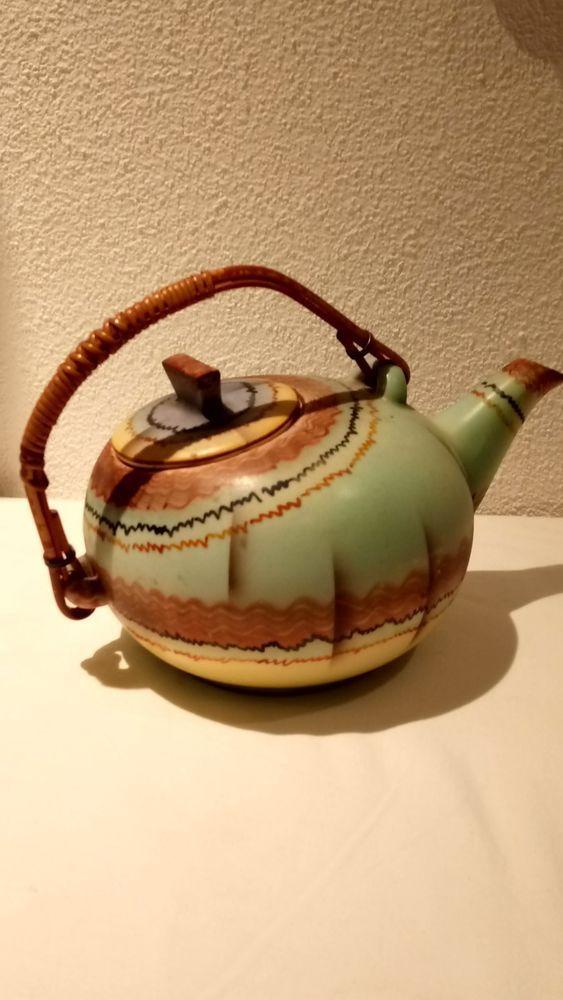 Art Deco Keramik BIHL Czechoslovakia Teekanne im Bauhaus