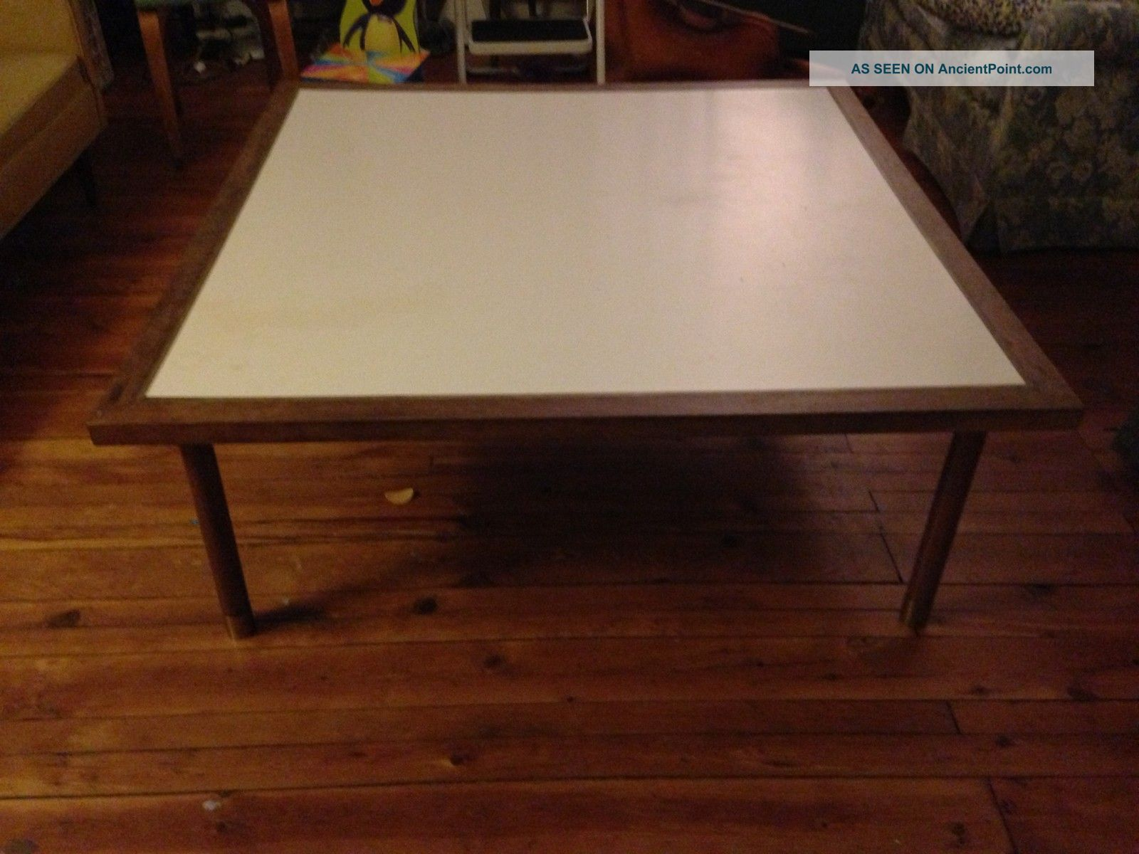 Table Top Like This White Formica With Wood Border Table Coffee Table Formica