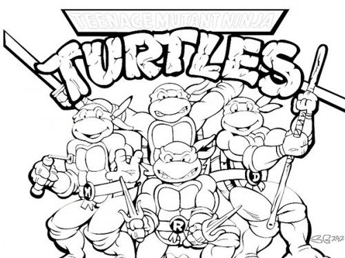 printable teenage mutant ninja turtles coloring pages eassume ... - Ninja Turtle Pizza Coloring Pages