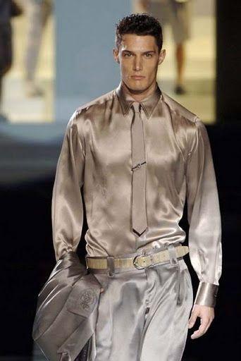 Men's Business Silk Satin Shirt Mens Formal Dress Shirts Bs1246 ...