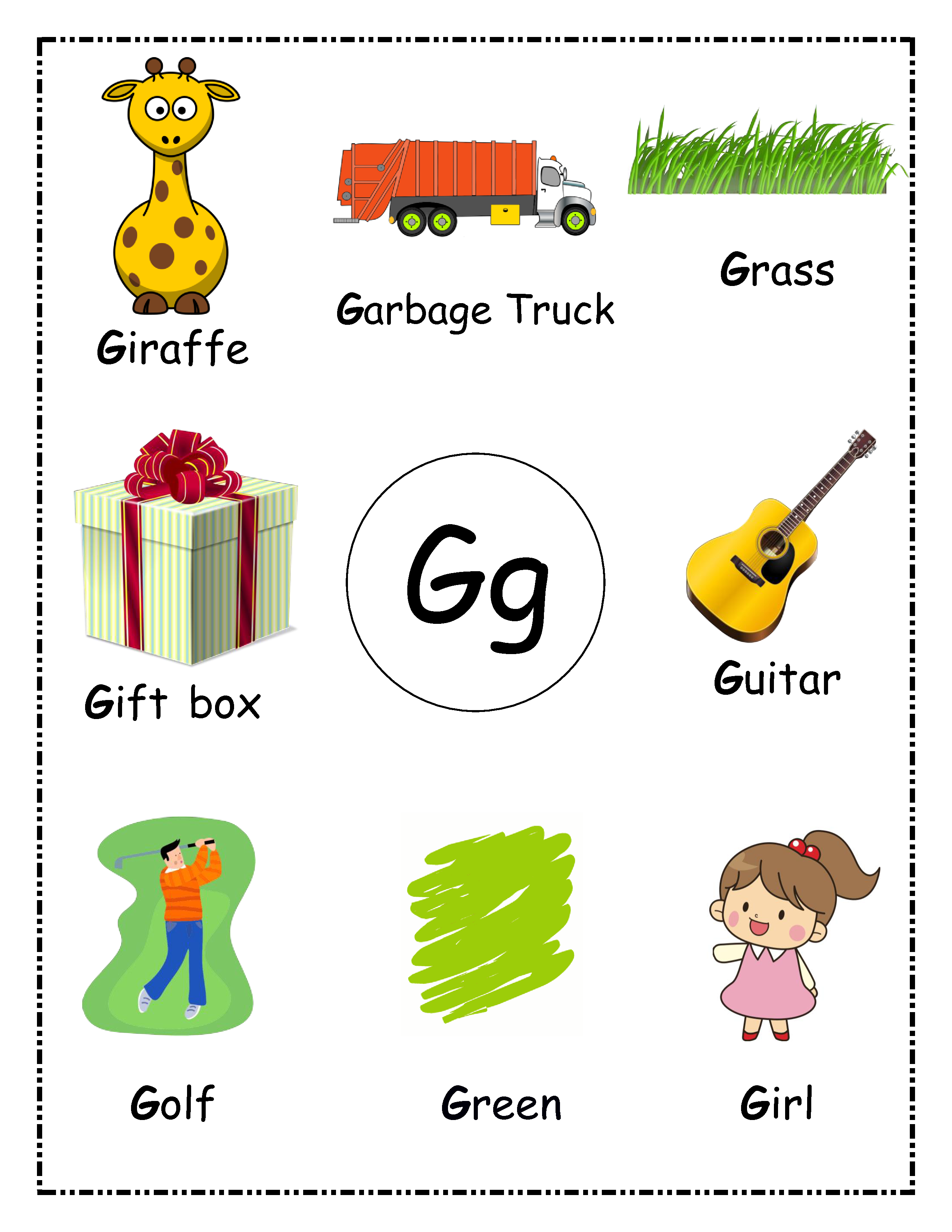 Toddler First Alphabet Picture Book Alphabet Wall Poster