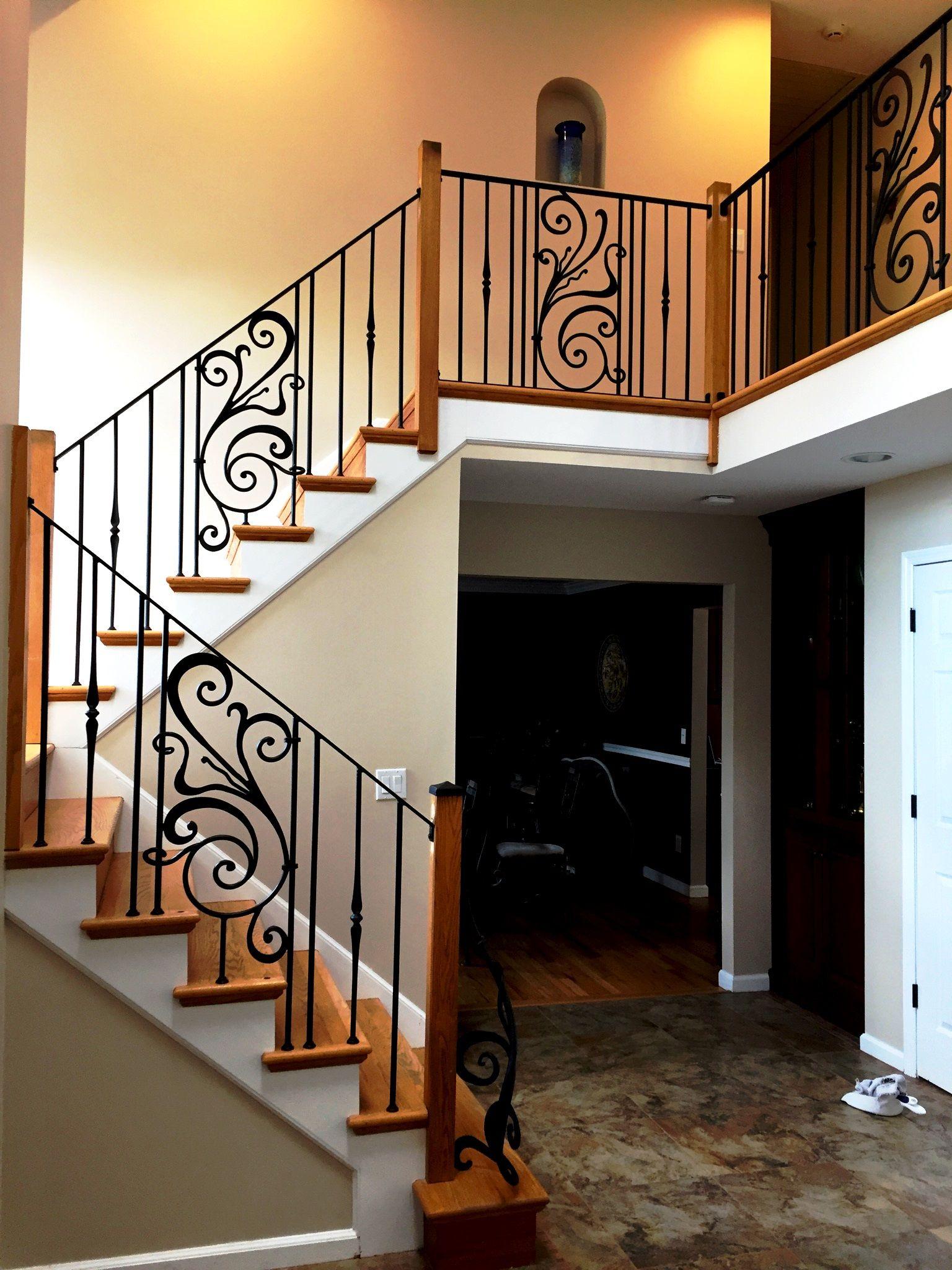 Interior Decorative Wrought Iron Railings