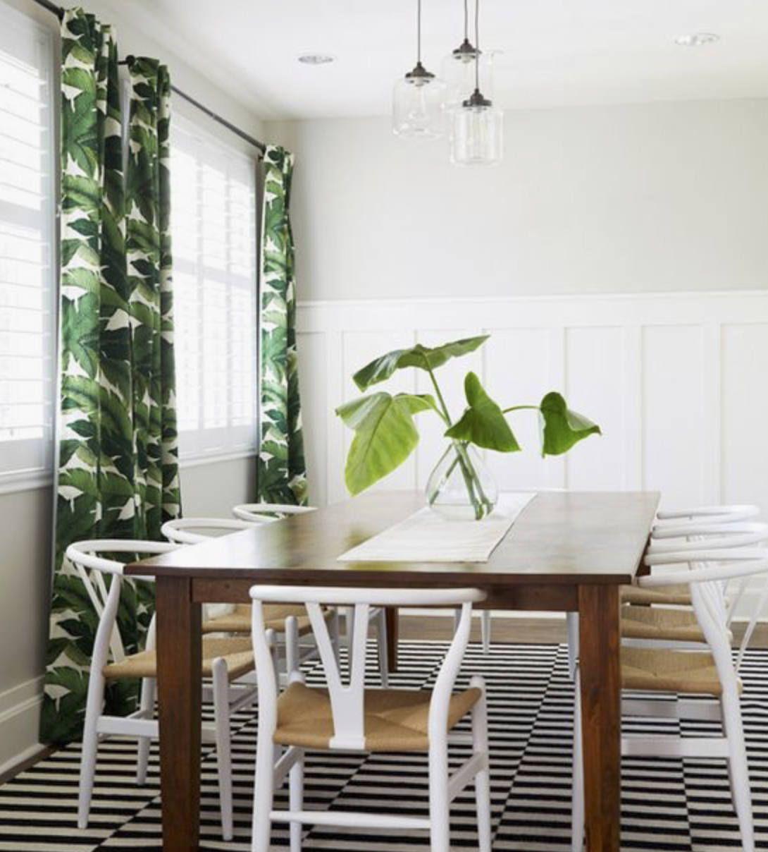 Palm Leaf Curtains Drapes Banana Leaf Curtains Tropical Curtains  # Muebles Hoja De Banano